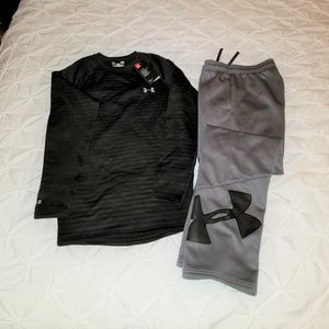 Under Armour Top and SweatPants - Boys